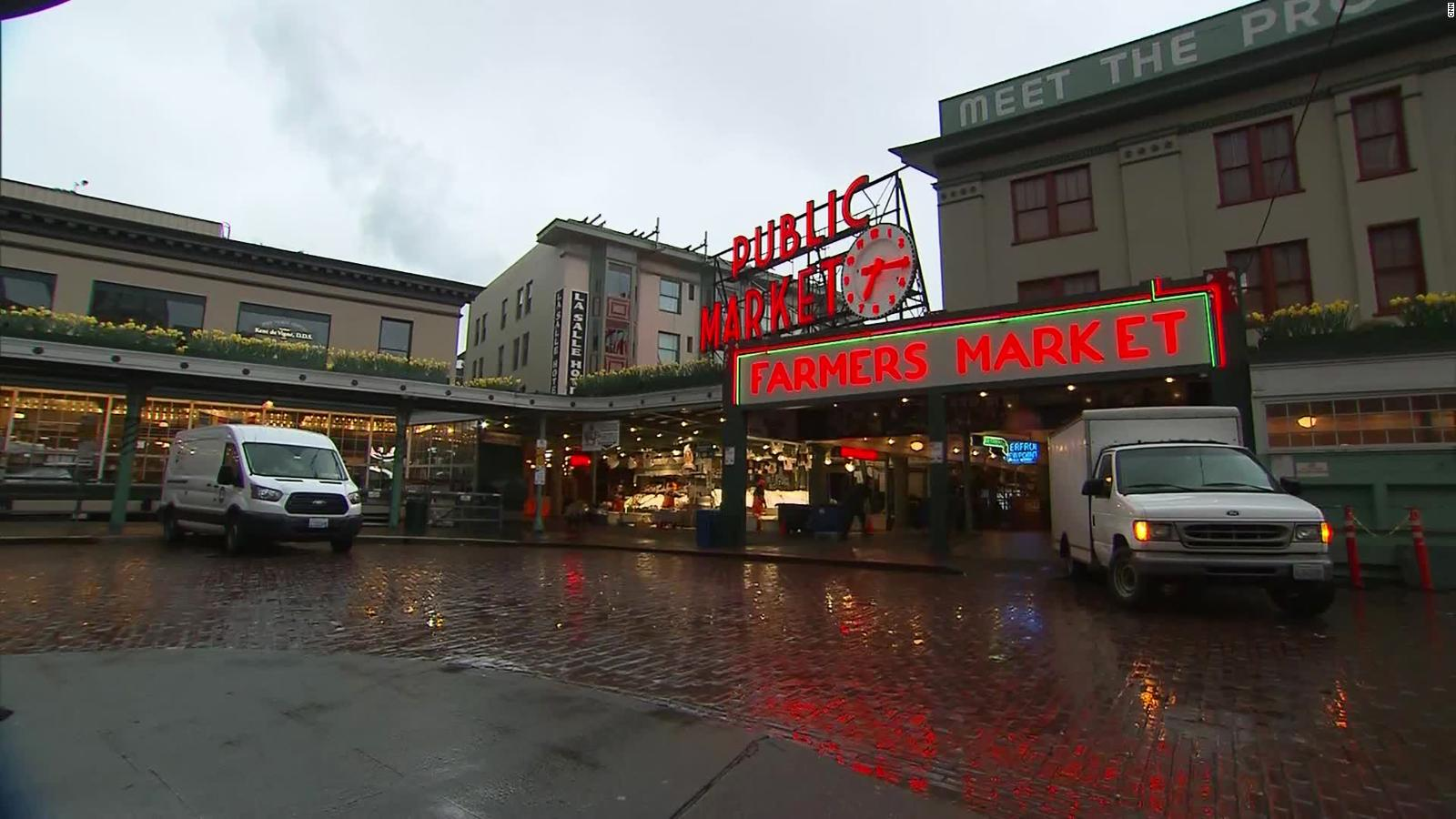 Pike Place Market is empty during the coronavirus scare.